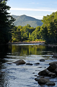 Saco River Framed Prints - Sunrise on Mt. Jackson 2 Framed Print by Geoffrey Bolte