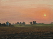 Southern Indiana Painting Posters - Sunrise on the Farm Poster by Steve Haigh