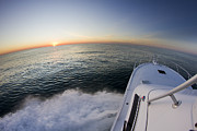 Power Boat Posters - Sunrise on the Florida Coast Luhrs 36 Sportfisher Poster by Dustin K Ryan
