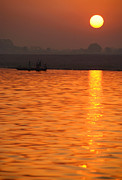 Ganga Photos - Sunrise on the Ganges by Serena Bowles