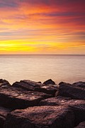 Matt Suess Prints - Sunrise on the Jetty Texas Print by Matt Suess