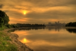 Kansas City Metal Prints - Sunrise on the Missouri River Metal Print by Don Wolf