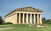 Nashville Tennessee Prints - Sunrise on the Parthenon 2 Print by Douglas Barnett