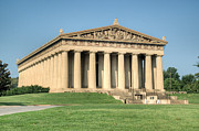 Nashville Tennessee Prints - Sunrise on the Pathenon 1 Print by Douglas Barnett