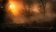 Fog Mist Photos - Sunrise on the projects by Everet Regal