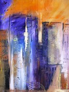 Tampa Painting Originals - Sunrise On Twin Towers by Gary Smith