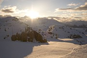 Holidays And Celebrations Prints - Sunrise On Whistler Mountain Print by Taylor S. Kennedy