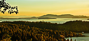 Bay Islands Framed Prints - Sunrise Over Bellingham Bay Framed Print by Robert Bales