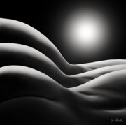Nudes Digital Art Prints - Sunrise Over Bodywaves Print by Joe Bonita