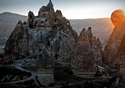 Chimneys Photo Framed Prints - Sunrise over Cappadocia Framed Print by RicardMN Photography
