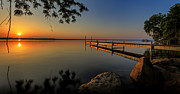 Boats Photos - Sunrise over Cayuga Lake by Everet Regal