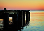 Metaphor Acrylic Prints - Sunrise Over Chesapeake Bay Acrylic Print by Rebecca Sherman