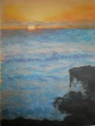 Historic Pastels Prints - Sunrise Over Hutchinson Island Print by Susan Haiken