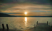 Finger Lakes Framed Prints - Sunrise Over Keuka Framed Print by Steven Ainsworth