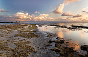 Miami Skyline Metal Prints - Sunrise over Miami Beach Metal Print by Matt Tilghman