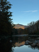 Saco River Framed Prints - Sunrise over Mt Jackson Framed Print by Geoffrey Bolte