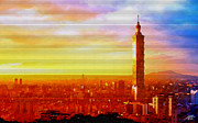 One Planet Infinite Places Digital Art - Sunrise Over Taipei by Steve Huang