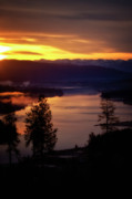 Sunrise - Sunset - Clouds And Storms - Sunrise over the Pend Oreille River by Albert Seger