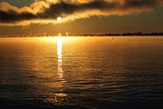 Sunrise River Framed Prints - Sunrise over the St Lawrence River Framed Print by Sophie Vigneault