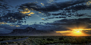 The Superstitions Posters - Sunrise over the Superstitions Poster by Saija  Lehtonen