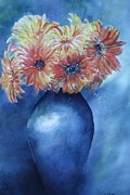 Sunburst Floral Still Life Posters - Sunrise Poster by Patsy Sharpe