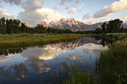 Sunrise Reflection At Schwabacher Landing  Print by Paul Cannon