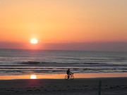 Sunrise Reflection Print by Sandy Owens