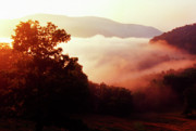 Randolph County Prints - Sunrise Rich Mountain Print by Thomas R Fletcher