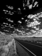 Black And White - Sunrise Roadside by Bob Coates
