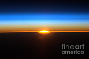 Rising From Earth Posters - Sunrise Seen From The International Poster by NASA/Science Source