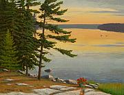 Lakeshore Paintings - Sunrise Shore by Jake Vandenbrink