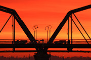 Chattanooga Tennessee Photos - Sunrise Walnut Street Bridge by Tom and Pat Cory