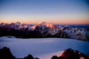 Alpine Skiing Prints Photo Posters - Sunrise Poster by Iurii Zaika