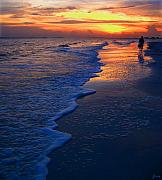 Ft. Meyers Beach Framed Prints - Sunset 1 Framed Print by Jeff Breiman