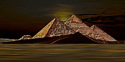 Tombs Digital Art - Sunset-2 by Larry Guterson