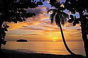Framed Print. Colorful Posters - Sunset 3-St Lucia Poster by Chester Williams