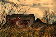 Abandoned Barn Prints - Sunset Abandoned Print by Emily Stauring