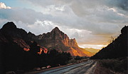 Sunset After The Storm In The Canyon Print by Byron Varvarigos