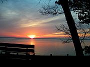 Kathern Welsh - Sunset and Bench