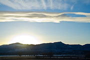 Sunset  And Colorado Rocky Mountains Print by Ellie Teramoto