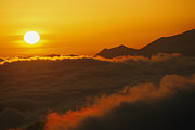 Natural Forces Art - Sunset And Fog From La Cumbre Peak by Rich Reid