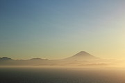 Fuji Framed Prints - Sunset And Mt. Fuji Framed Print by Photo By Yasa