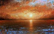 Laguna Beach Paintings - Sunset by Arthur Braginsky