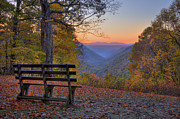 Wv Prints - Sunset at Babcock Print by Williams-Cairns Photography LLC