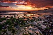 Sunset At Birling Gap Print by Mark Leader