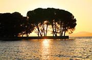 Sunset On The Lake Prints - Sunset at Buckingham Point Print by Cheryl Young