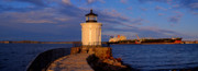 Sunset At Bug Light Lighthouse 2 Print by David Bishop