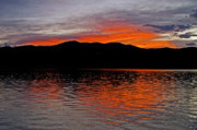 Sunset Greeting Cards Posters - Sunset at Carter Lake CO Poster by James Steele