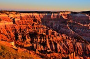 Chessmen Acrylic Prints - Sunset at Cedar Breaks Acrylic Print by Mark Bowmer