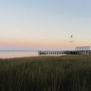 Pier Framed Prints - Sunset at Charleston Bay 2 Framed Print by Cathy Lindsey